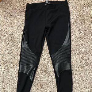 Motto leather Leggings